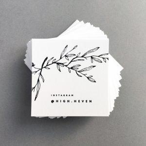 бирки на белом текстурном картоне