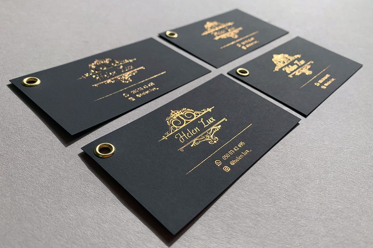 бирки на одежду с тиснением золотым
