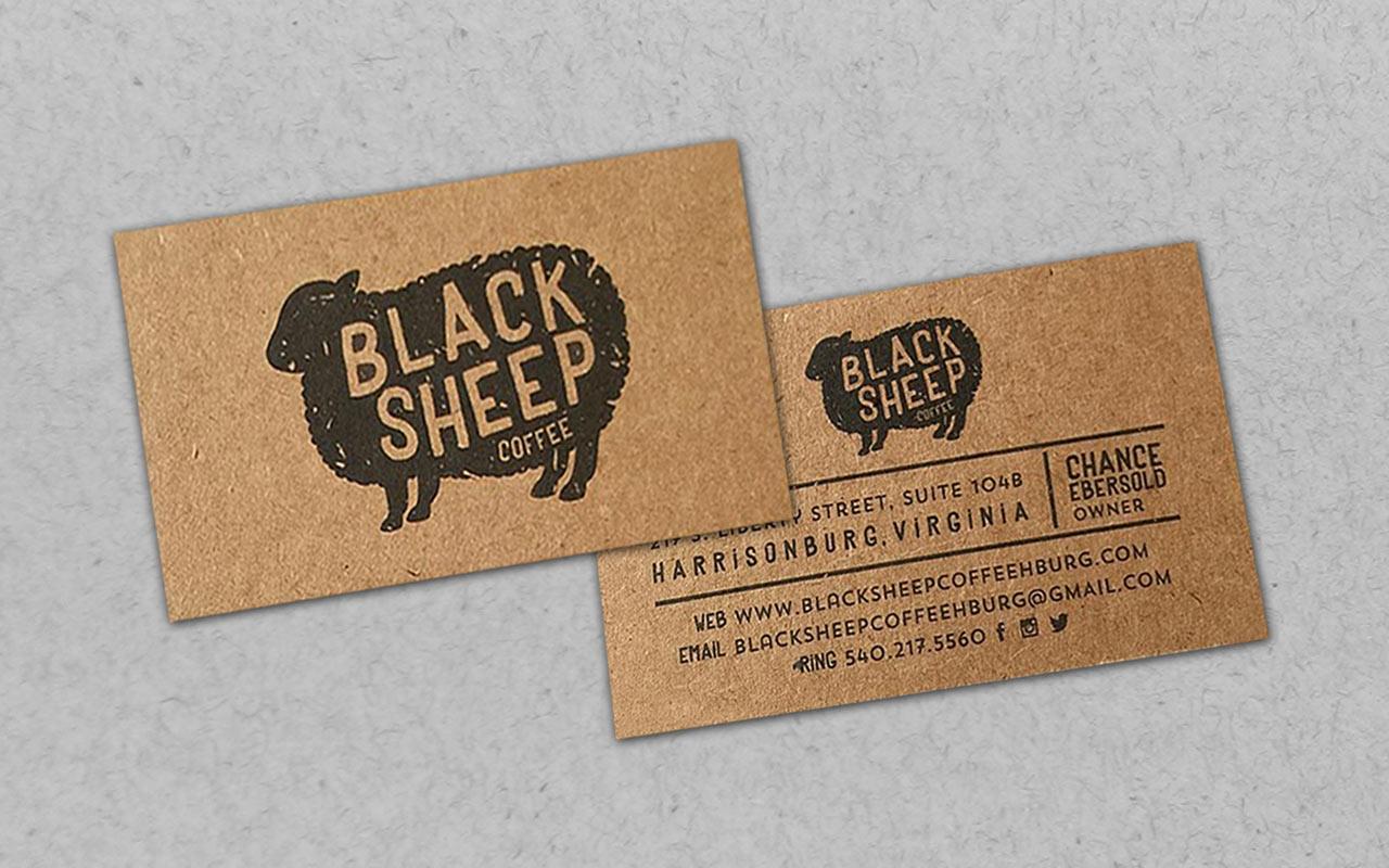 Крафт визитки с печатью