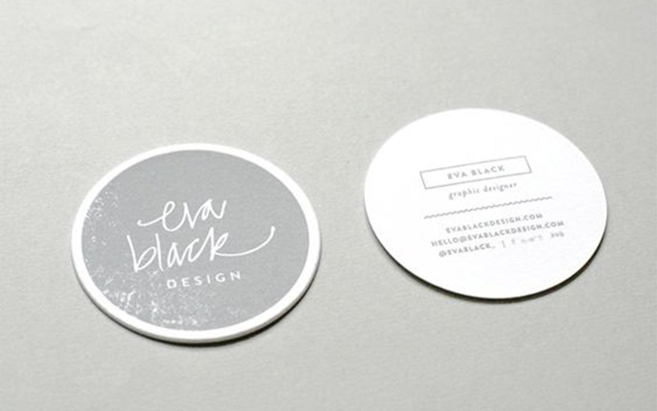 визитки круглые